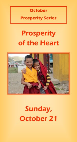 message prosperity of the heart